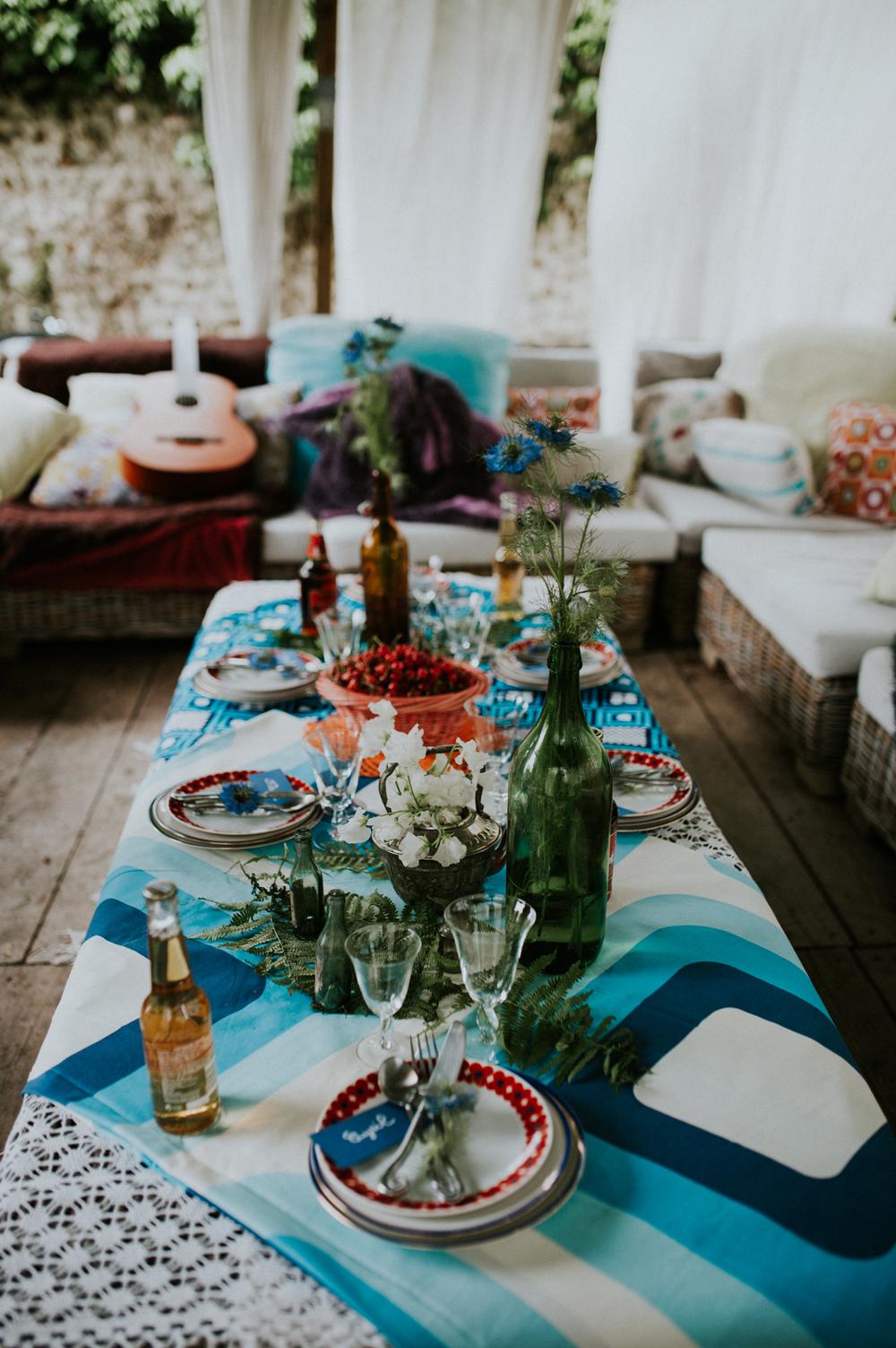 60s boho wedding