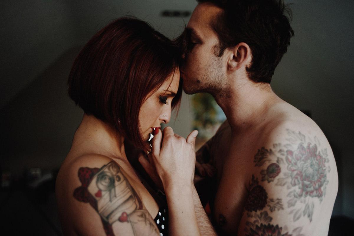 couple boudoir session