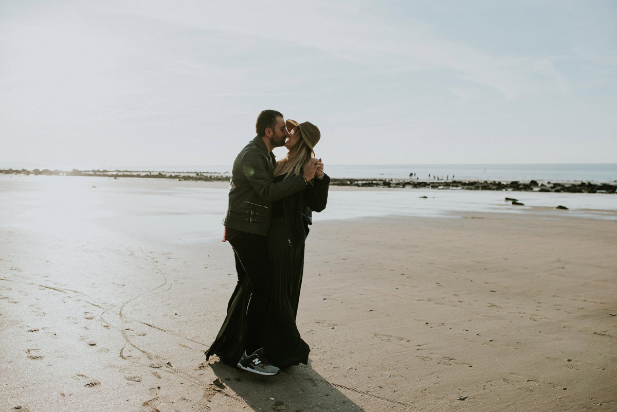 engagement session plage beach