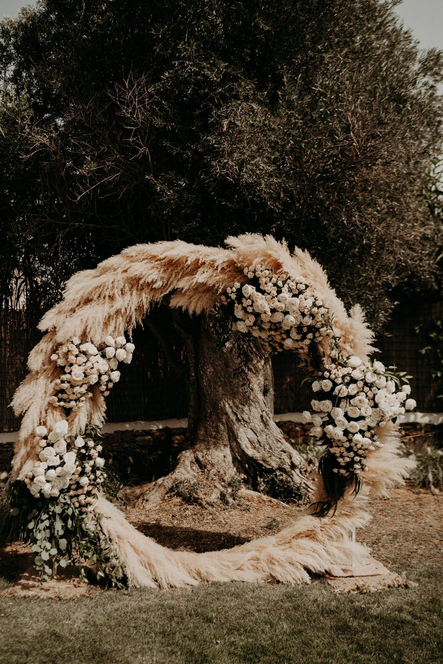 Ibiza wedding mariage ceremony flowers