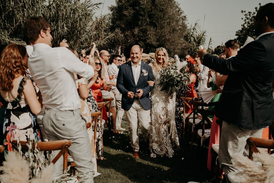 Ibiza wedding mariage ceremony exit