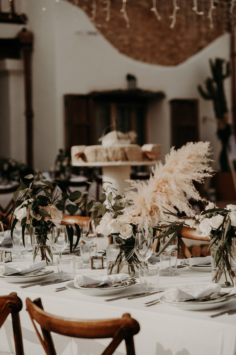 Ibiza wedding mariage dinner decor