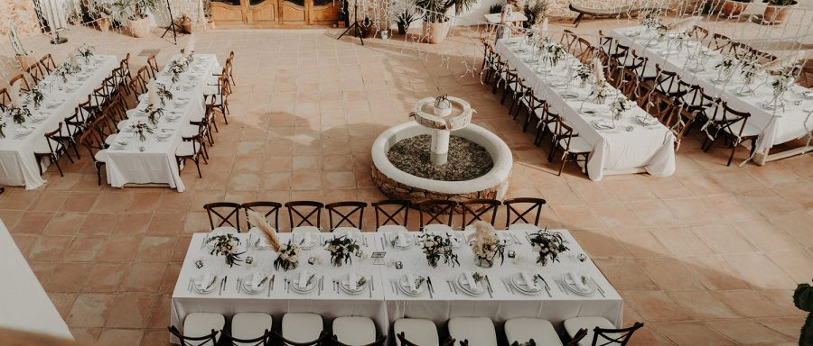 Ibiza wedding mariage tables